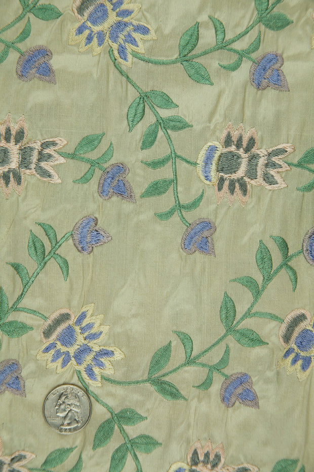 Embroidered Dupioni Silk MED-145/1 Fabric