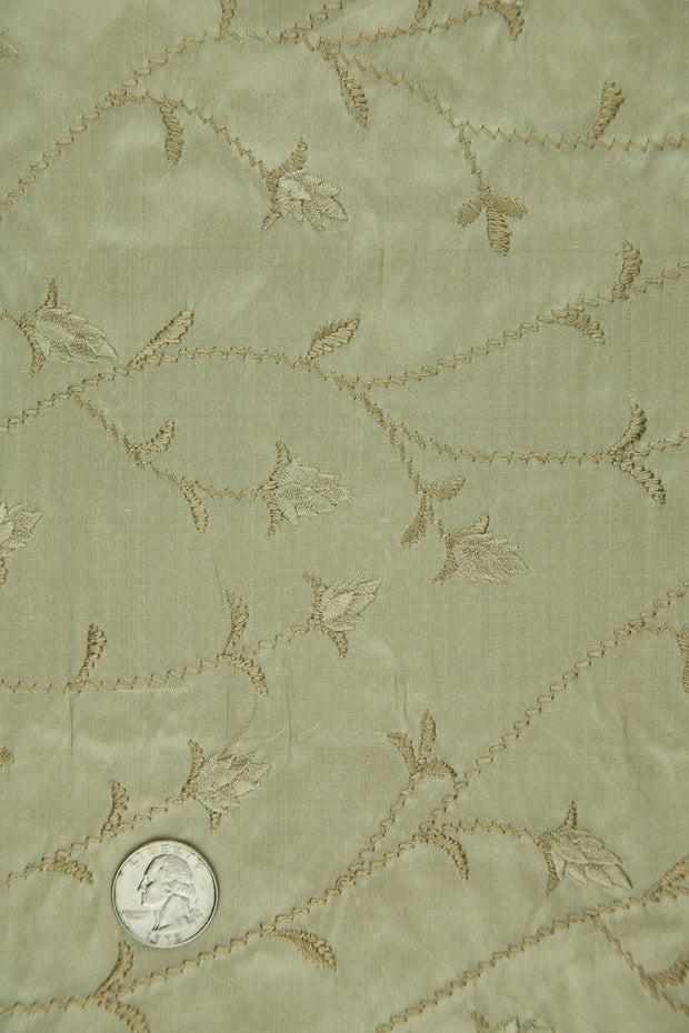 Embroidered Dupioni Silk MED-146/3 Fabric