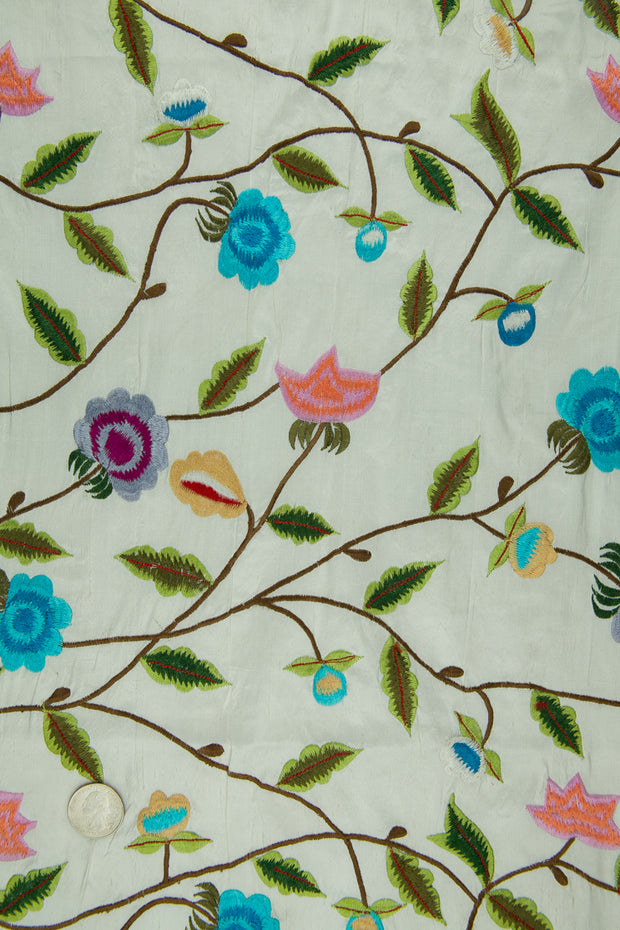 Embroidered Dupioni Silk MED-150/4 Fabric