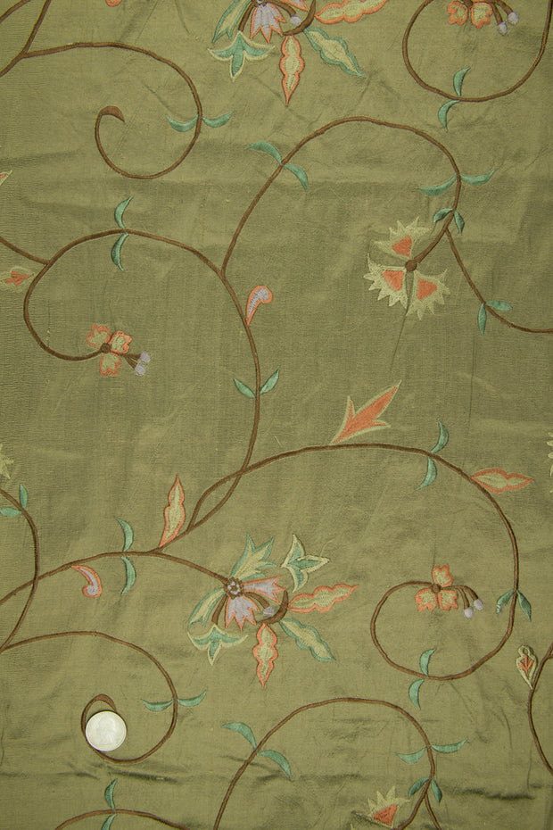 Embroidered Dupioni Silk MED-152/3 Fabric
