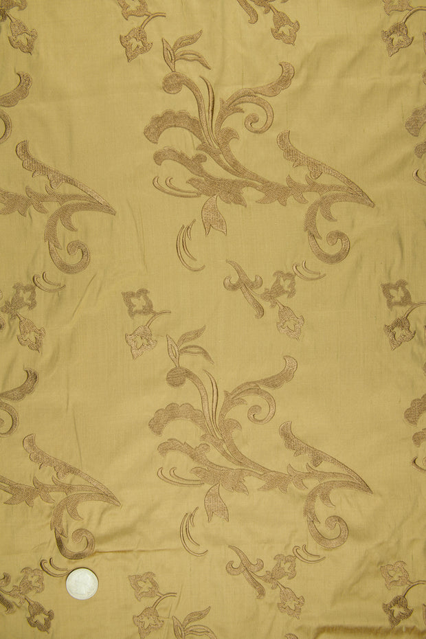 Embroidered Dupioni Silk MED-153/4 Fabric