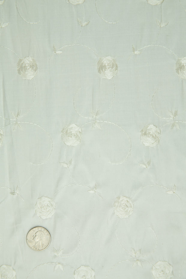 Embroidered Dupioni Silk MED-154 Fabric