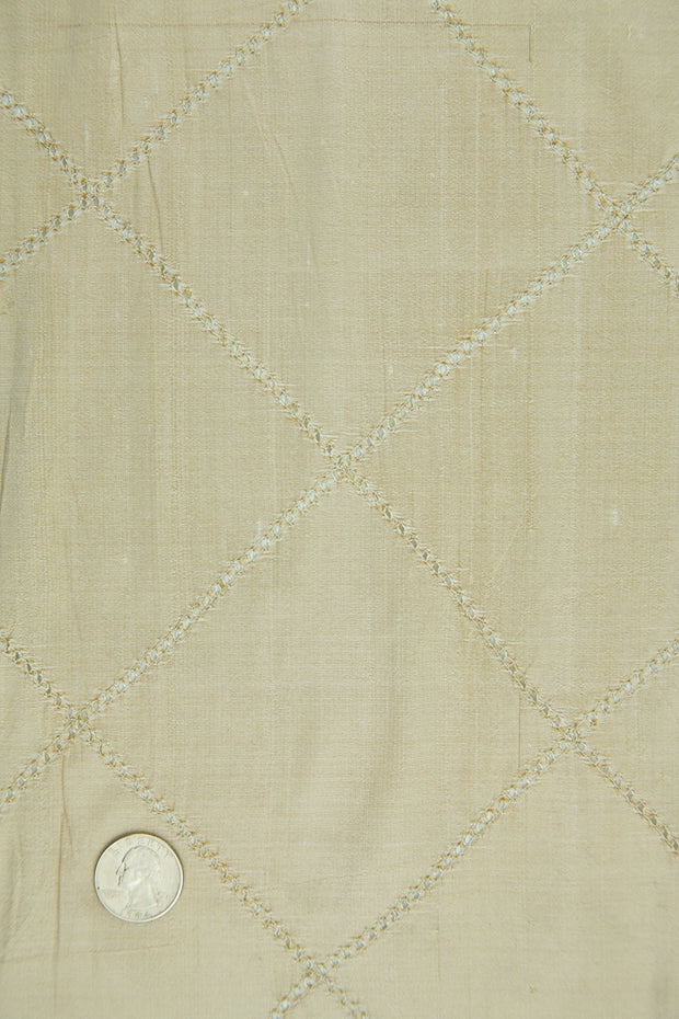 Embroidered Dupioni Silk MED-155/3 Fabric
