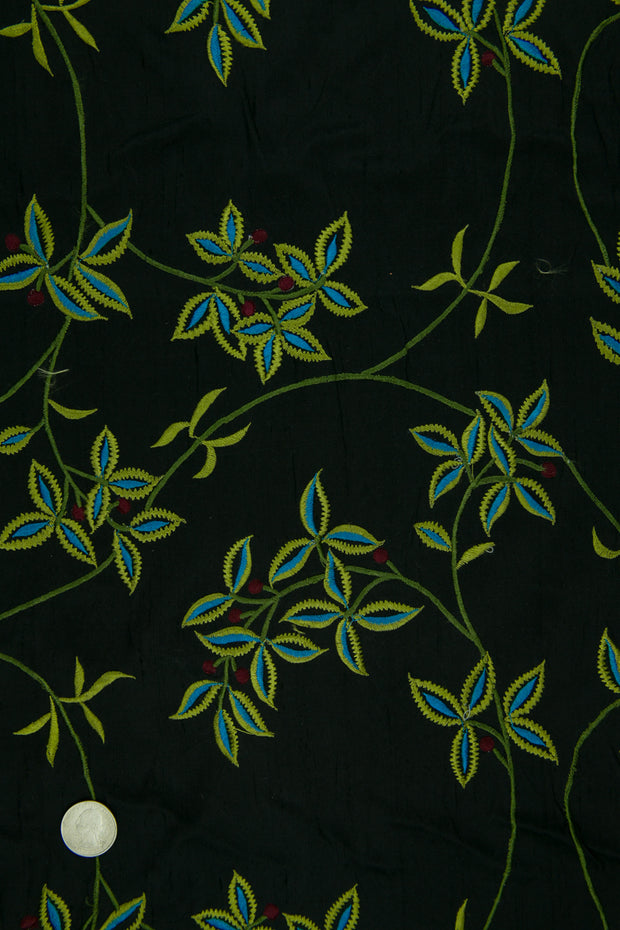 Embroidered Dupioni Silk MED-157/3 Fabric