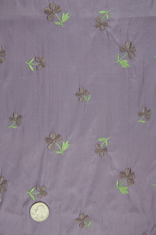 Embroidered Dupioni Silk MED-160/4 Fabric