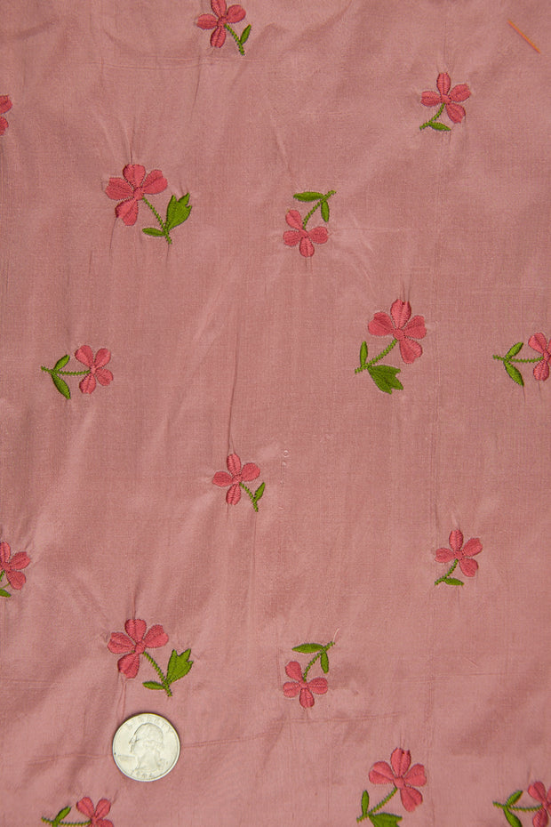 Embroidered Dupioni Silk MED-160/6 Fabric
