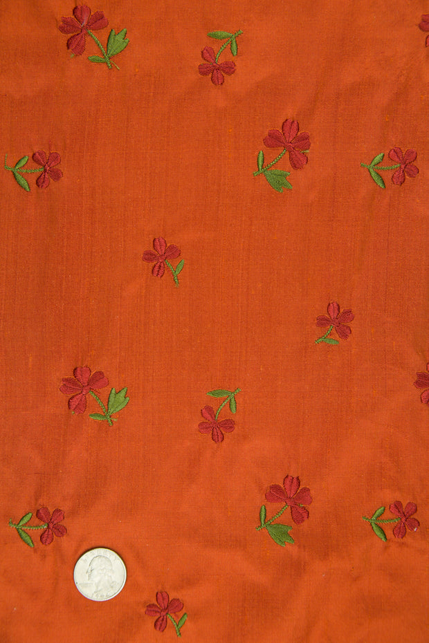 Embroidered Dupioni Silk MED-160/7 Fabric