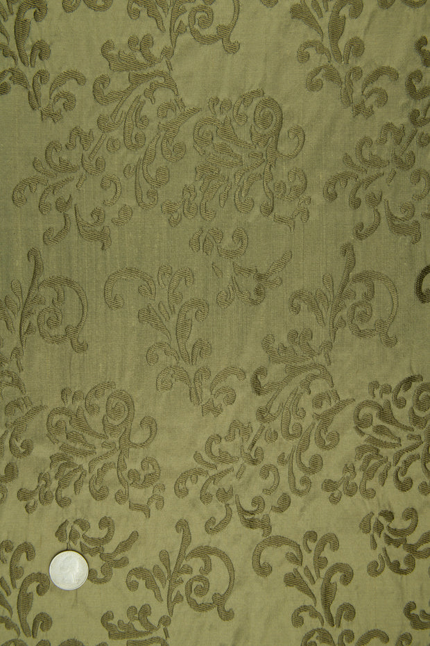 Embroidered Dupioni Silk MED-161/2 Fabric