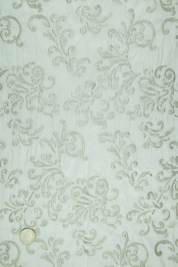Embroidered Dupioni Silk MED-161/4 Fabric