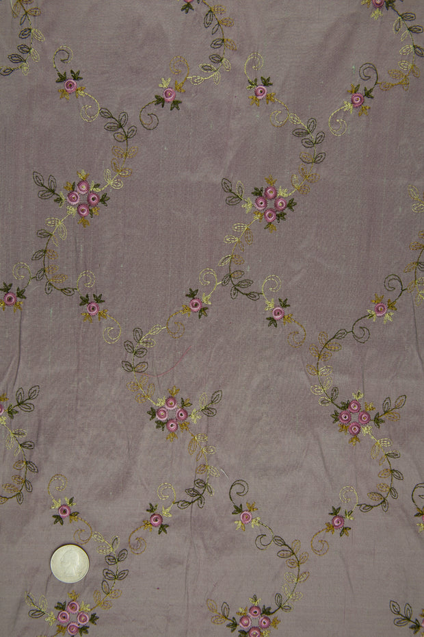 Embroidered Dupioni Silk MED-164/10 Fabric
