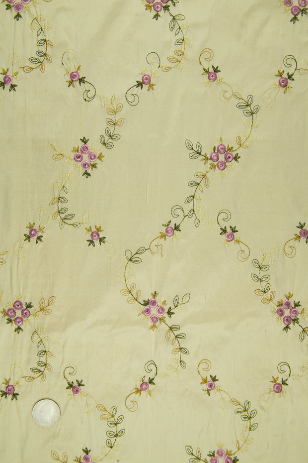 Embroidered Dupioni Silk MED-164/11 Fabric