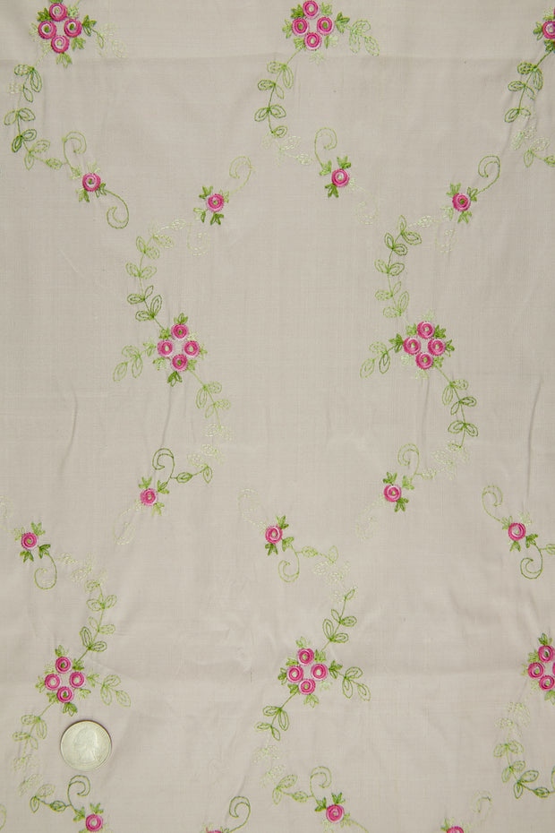 Embroidered Dupioni Silk MED-164/5 Fabric