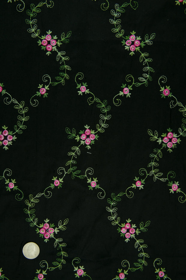 Embroidered Dupioni Silk MED-164/8 Fabric