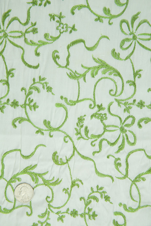 Embroidered Dupioni Silk MED-170/4 Fabric