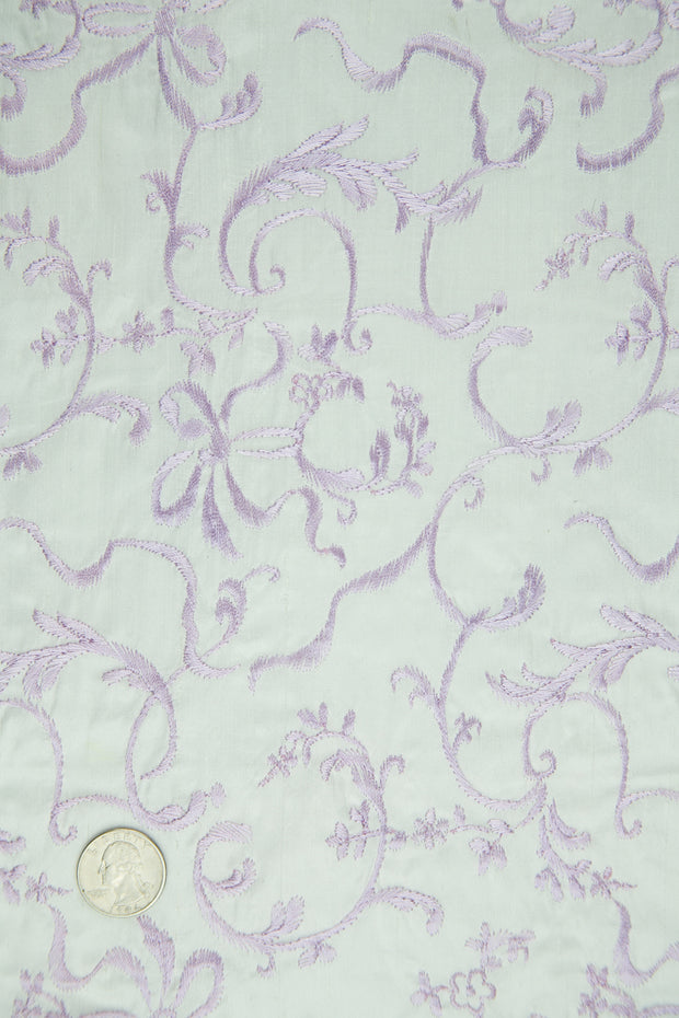 Embroidered Dupioni Silk MED-170/5 Fabric