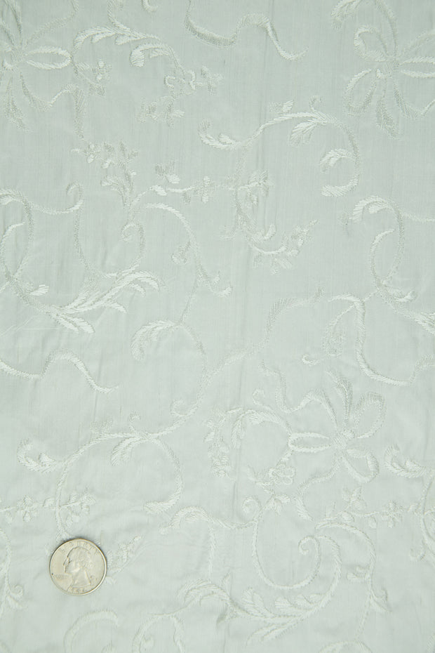 Embroidered Dupioni Silk MED-170 Fabric