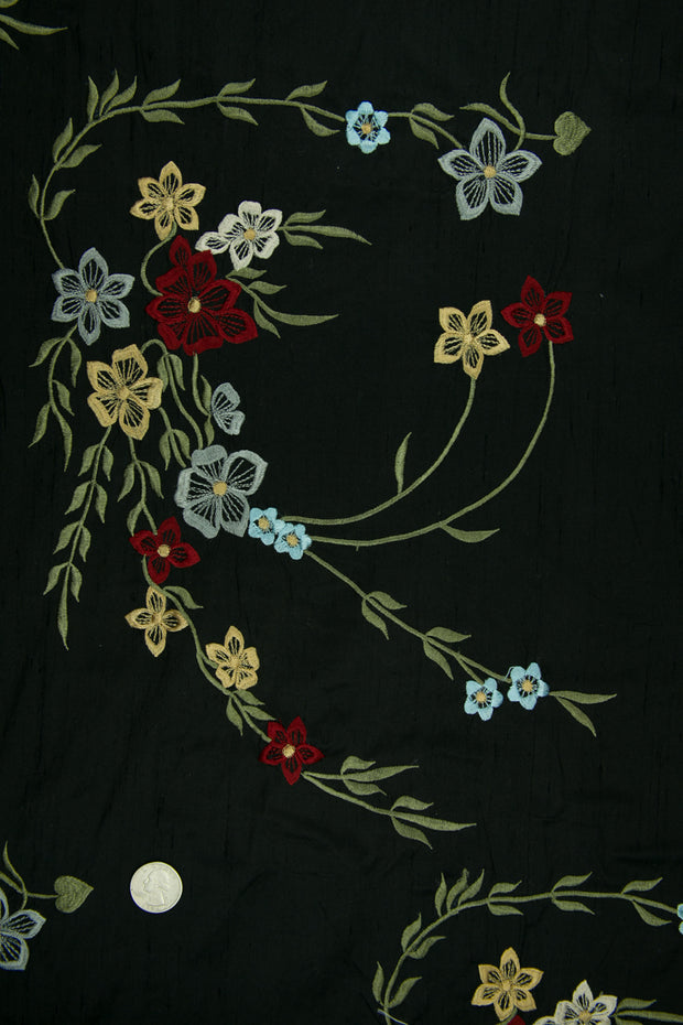 Embroidered Dupioni Silk MED-171/5 Fabric