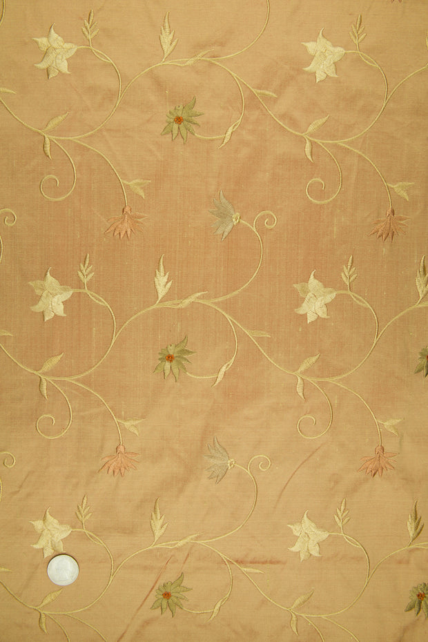 Embroidered Dupioni Silk MED-187/10 Fabric