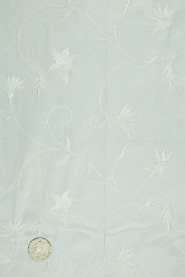 Embroidered Dupioni Silk MED-187/5 Fabric