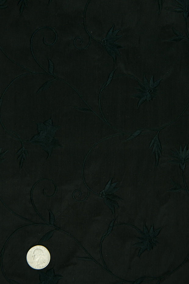 Embroidered Dupioni Silk MED-187/9 Fabric