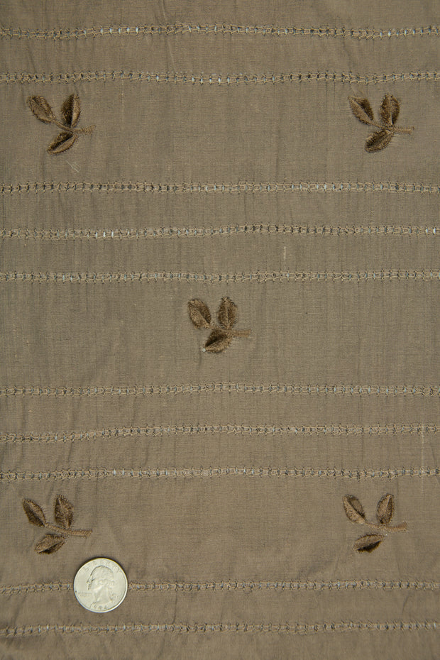 Embroidered Dupioni Silk MED-189/4 Fabric