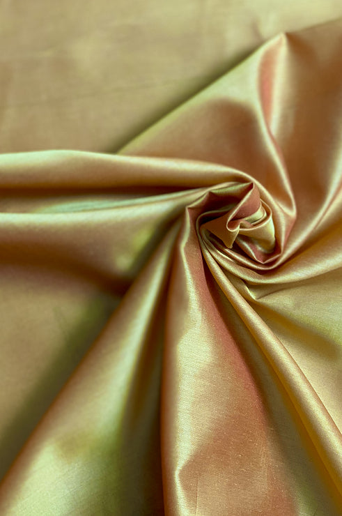 Sunset Gold Cotton Silk Fabric
