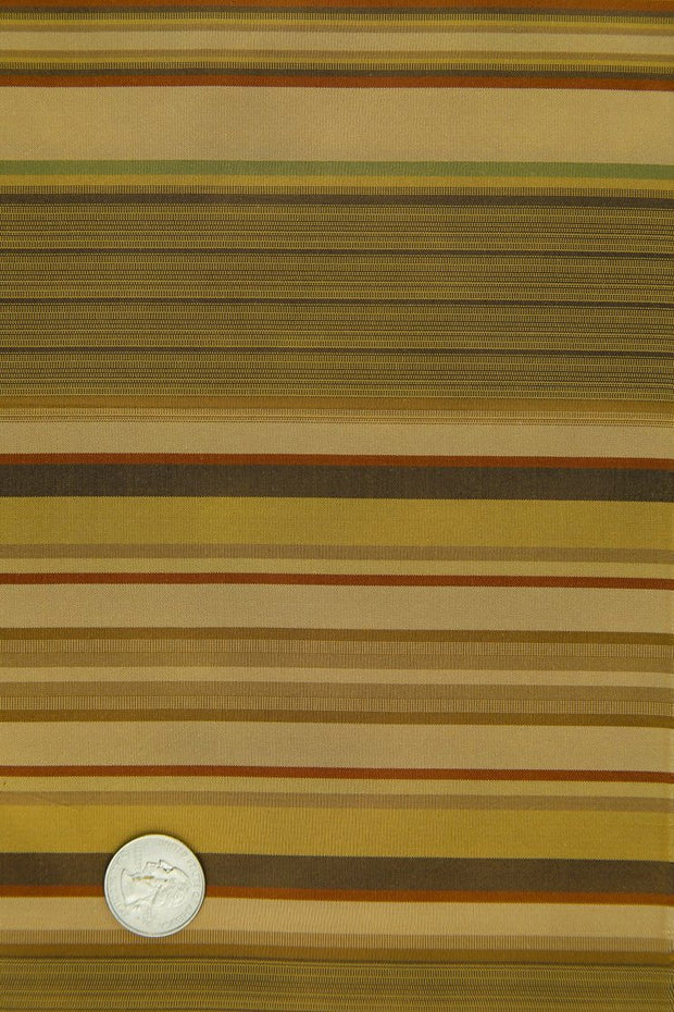 Gold Silk Taffeta Plaids & Stripes 044 Fabric