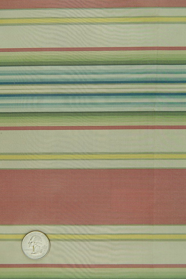 Multicolor Silk Taffeta Plaids & Stripes 049 Fabric