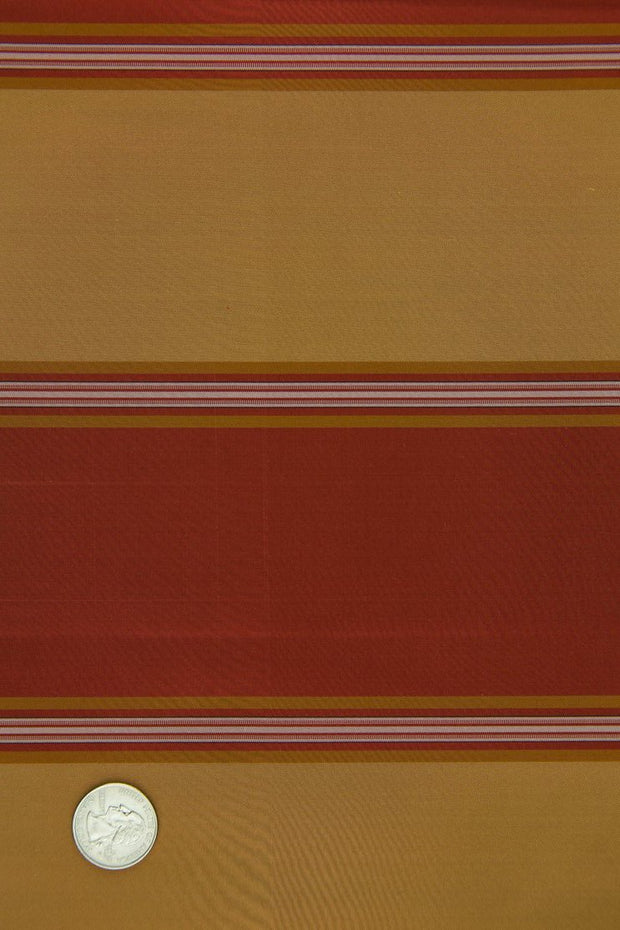 Red Brown Silk Taffeta Plaids & Stripes 073/5 Fabric