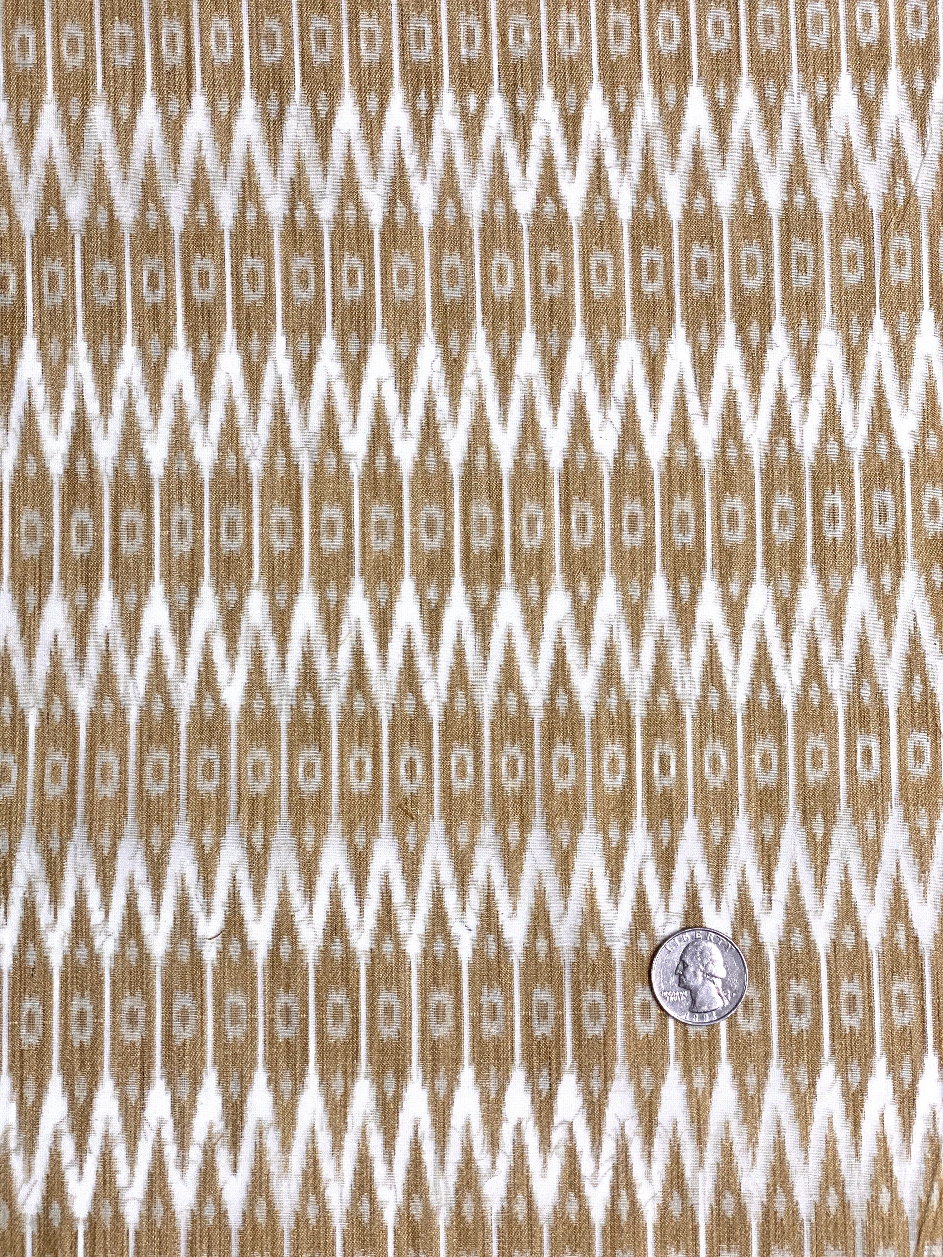 Off-white Sand Cotton Blend Novelty 1038 Fabric