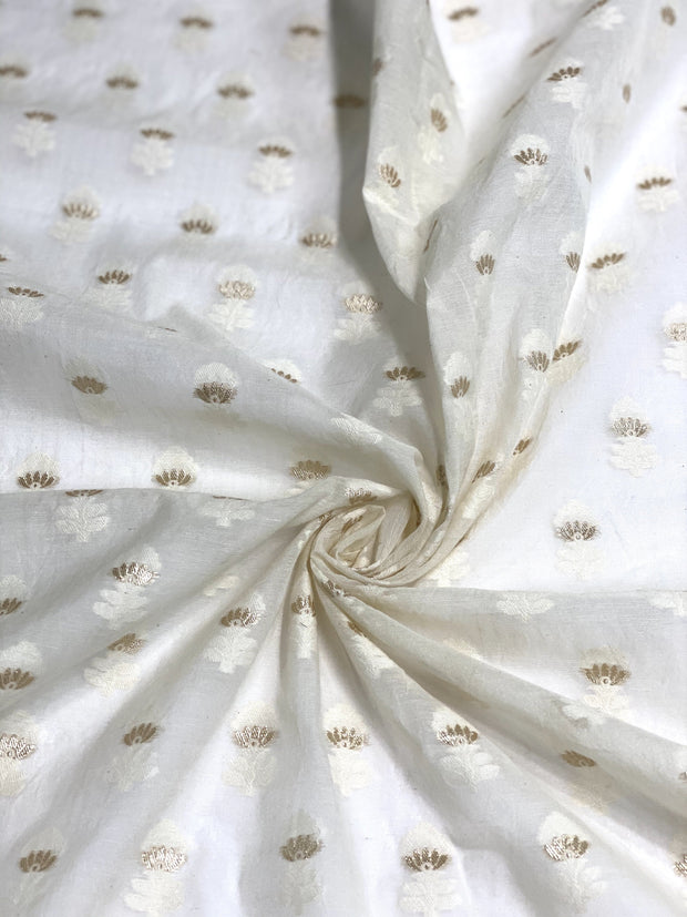 Off White Gold Cotton Blend Novelty 1078 -1 Fabric