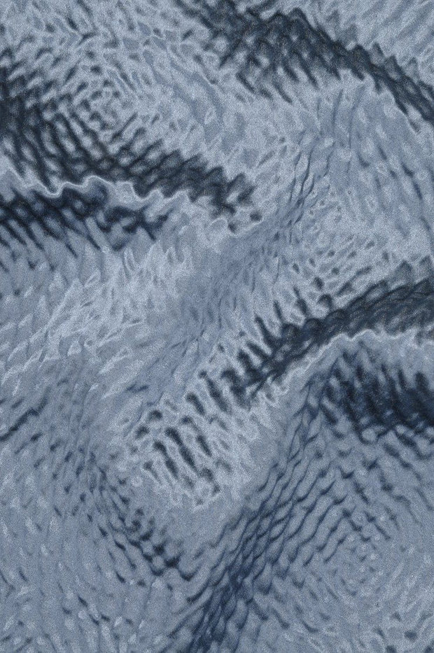 Adriatic Blue Hammered Satin Fabric