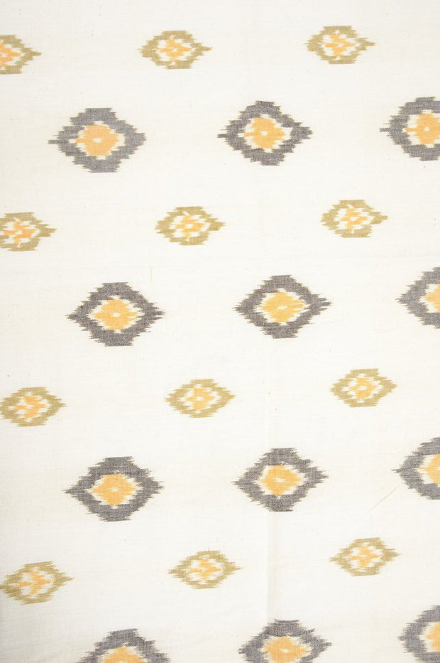 Almond Cotton Ikat 71 Fabric