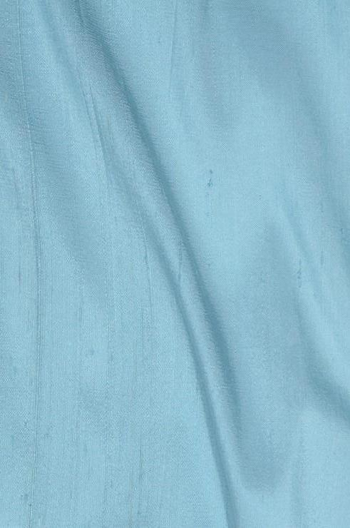 Angel Blue Dupioni Silk Fabric