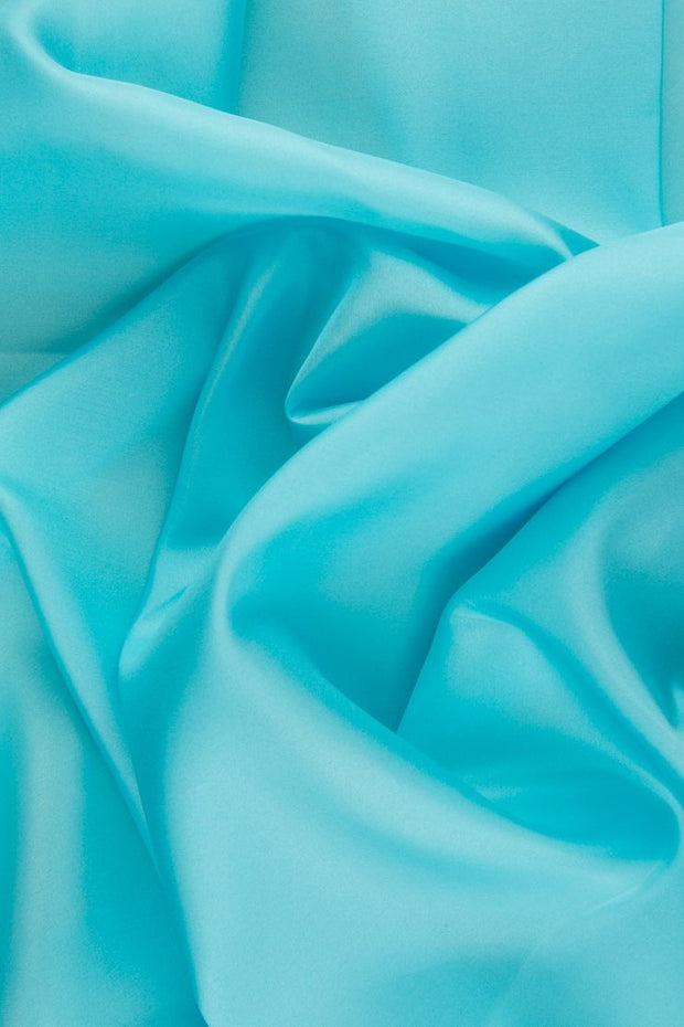 Angel Blue Habotai Silk Fabric