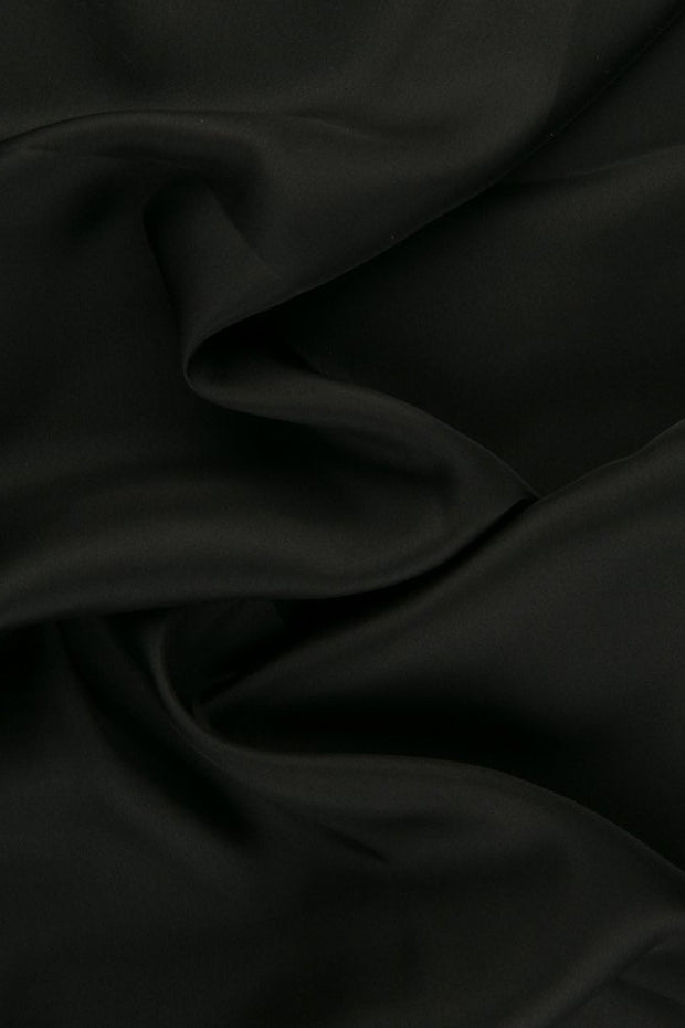 Anthracite Habotai Silk Fabric