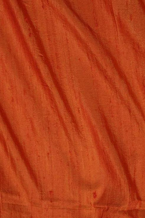 Apricot Orange Dupioni Silk Fabric