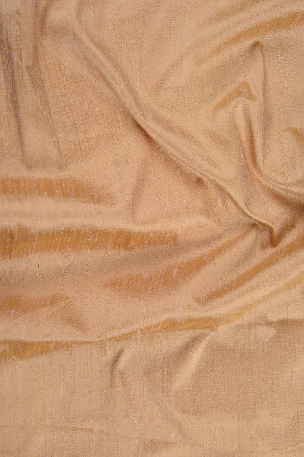 Apricot Wash Dupioni Silk Fabric