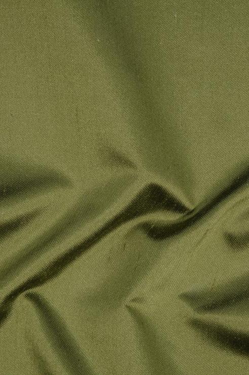 Avocado Green Italian Shantung Silk Fabric