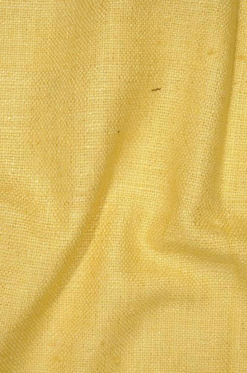 Banana Yellow Silk Linen (Matka) Fabric