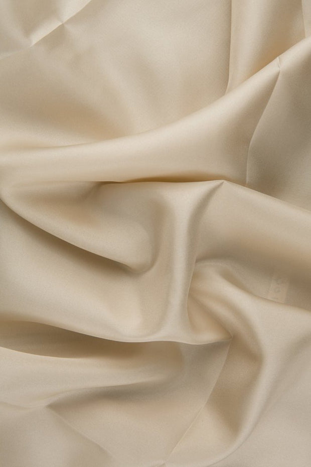 Birch White Habotai Silk Fabric