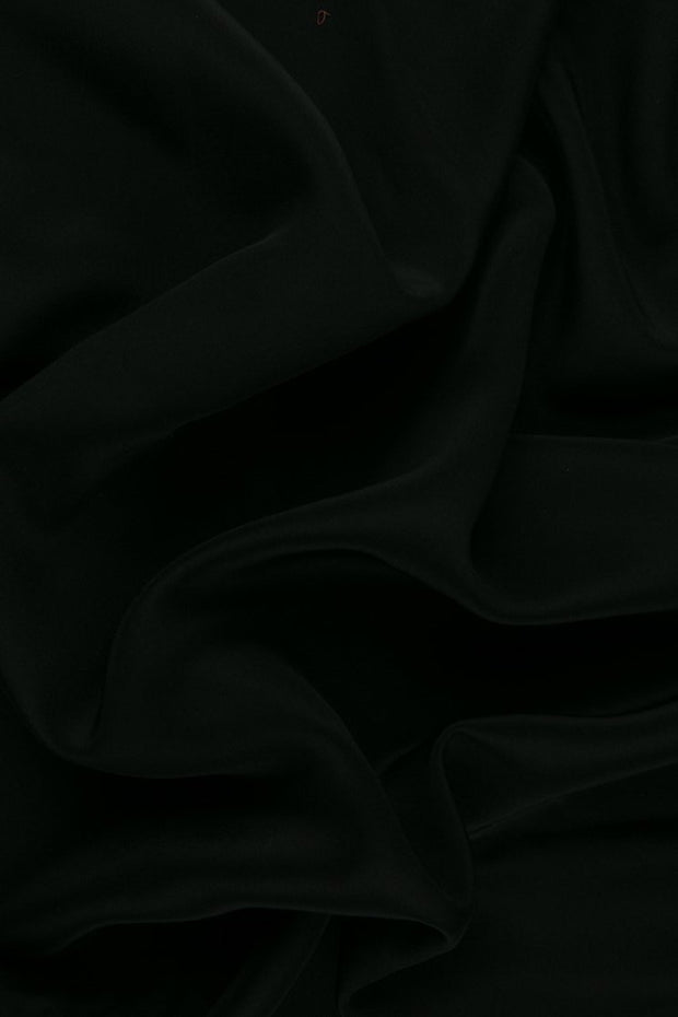 Black Silk Crepe de Chine Fabric