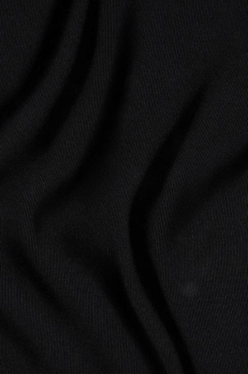 Black Silk Faille Fabric