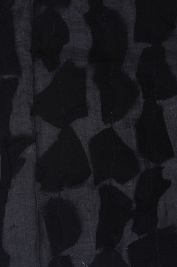 Black Silk Chiffon Petal 600 Fabric