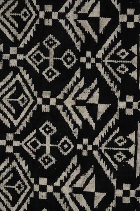 Black & White Double Knitted Heavy Cotton 3 Fabric