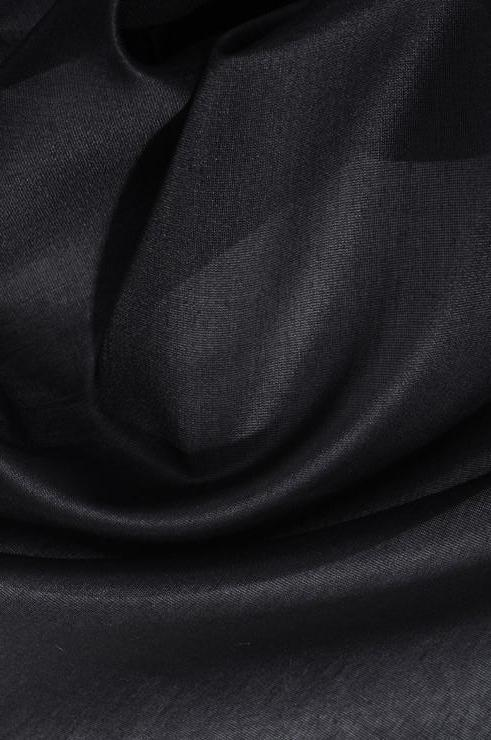 Black Cotton Silk Fabric