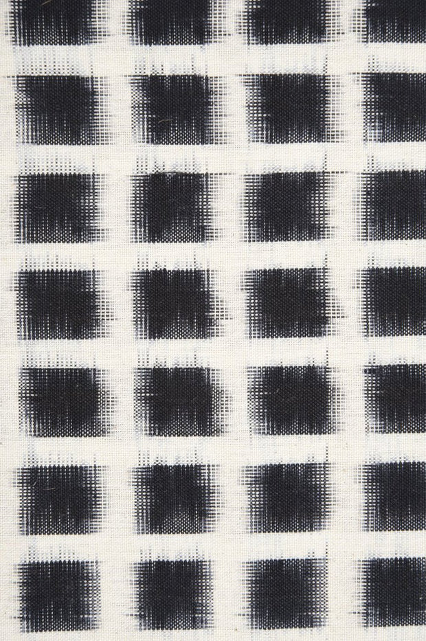 Black Cotton Ikat 115 Fabric