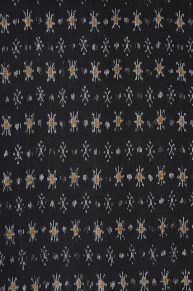 Black Cotton Ikat 119 Fabric
