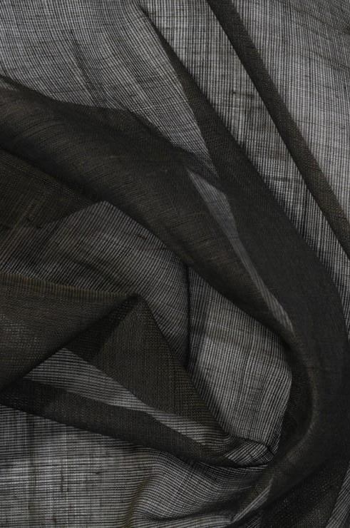Black Olive Cotton Voile Fabric
