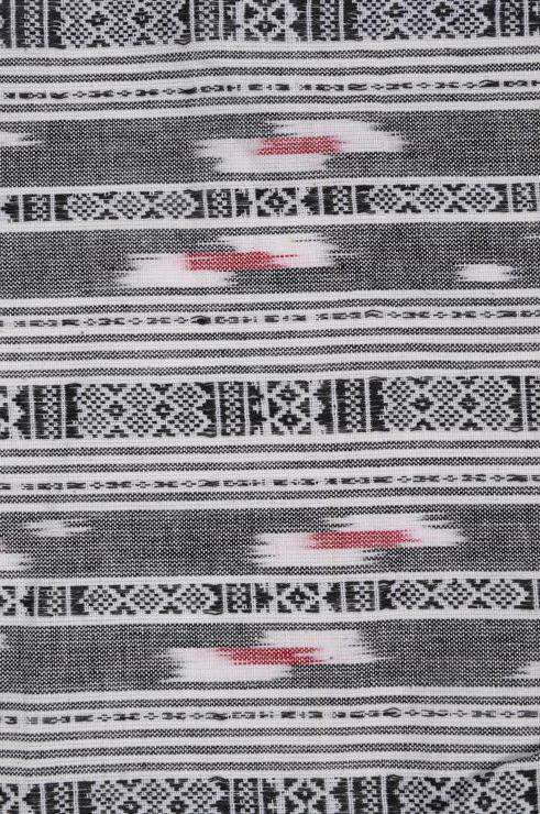 Black & White Cotton Ikat 33 Fabric